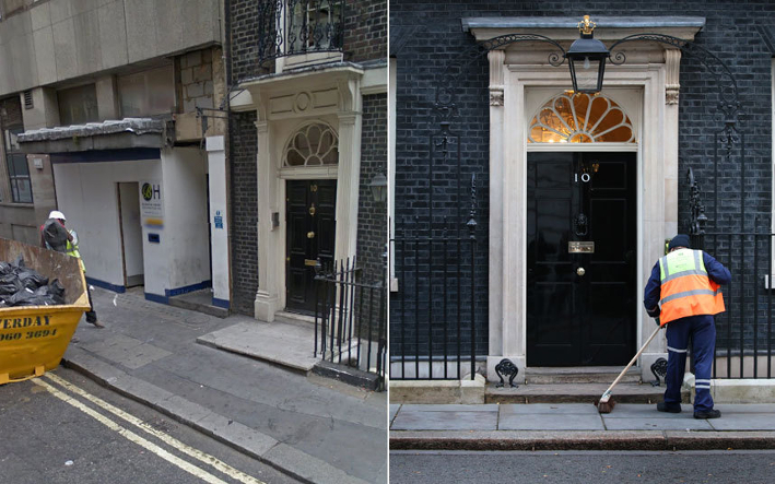 The fake 10 Downing Street